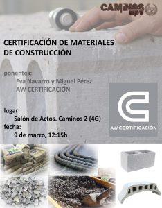 Certificacion Materiales -- CaminosUPVyESCUELA 2